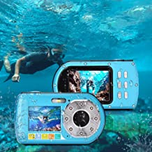 Underwater Camera Diving 10M Full HD 1080P Waterproof Camera for Snorkeling Selfie Dual Screen Action Camera 24MP Video Recorder Digital Camera