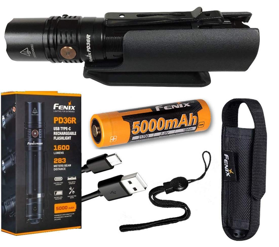 Fenix PD36R Rechargeable Tactical Flashlight