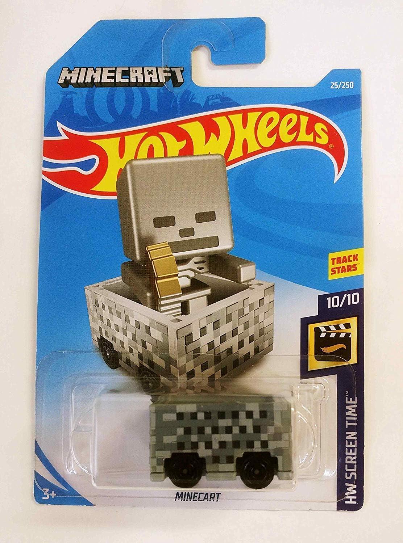 2017 Hot Wheels Minecart Short Card Minecraft HW Screen Time