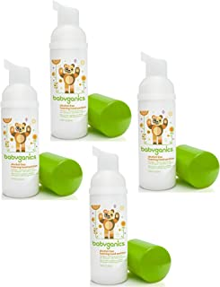 Babyganics Alcohol-free Foaming On-The-Go Hand Sanitizer Bundle - 4 Items: Mandarin 50 ml Bottles