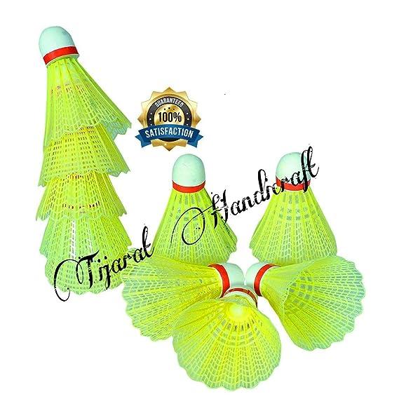 Tijarat Online Store Sports Nylon Badminton Shuttlecock (Standard) - Pack of 10