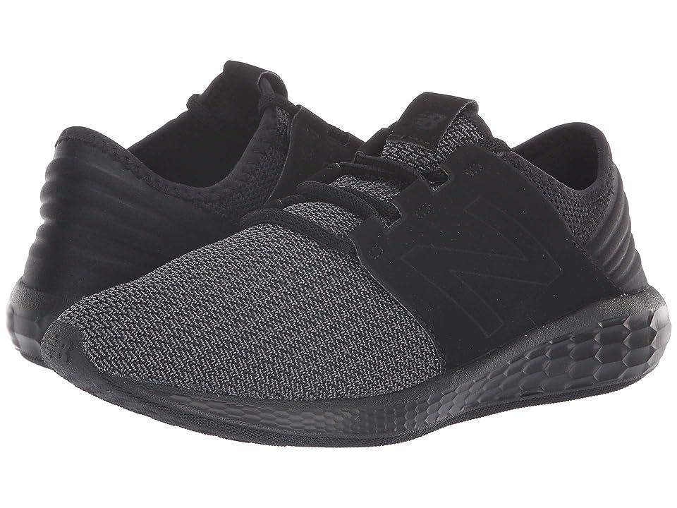 New Balance Kids KJCRZv2G Nubuck (Big Kid) (Black/Magnet) Boys Shoes