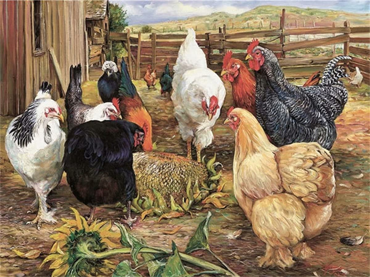 Diamond Painting Branded Sale goods for Kids 5D Rooster Kits Farm