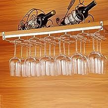 EigPluy Porta Bicchieri Vino sotto Mobili Scaffale Stoccaggio Calici da Vino 2 in Uno Multifunzione Senza Foratura Supporto Vino Vetro con Mug Ganci Portatazze