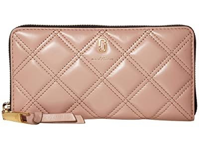 Marc Jacobs The Quilted Softshot Standard Continental Wallet (Nude) Wallet Handbags