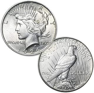 1924 P Peace Silver Dollar $1 Brilliant Uncirculated US Mint