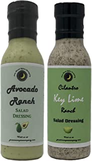 Premium | Ranch Salad Dressing | Variety 2 Pack | Cilantro Key Lime Ranch Salad Dressing | Avocado Ranch Salad Dressing | Low Cholesterol