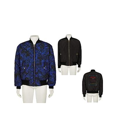Versace Jeans Couture Baroque Reversible Bomber Jacket (Blue/Black) Men