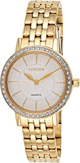Citizen Women White Dial Stainless Steel Band Watch - EL3042-84A