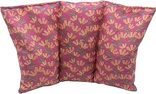 """Cuscino termico noccioli ciliegia """"Fiori - Rosa"""" - 26 x 16 cm (M / L) - pieno di noccioli di ciliegia 330gr - effetto fred..."""
