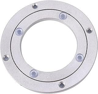 Yosoo Heavy Duty Aluminium Alloy Rotating Bearing Turntable Round Dining Table Smooth Swivel Plate (Size:4Inch)