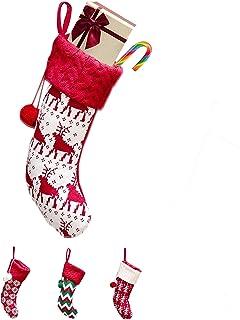 ANPI متماسكة جوارب عيد الميلاد، هدية كبيرة حقيبة حلوى الحقيبة للأطفال ديكور المنزل شجرة عيد الميلاد الحلي