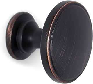 BirdRock Home Large Circle Cabinet Knobs - Oil Rubbed Bronze - 25 Pack - Kitchen Cupboard Furniture Cabinet Hardware Drawer Dresser Pull - 1.75 Inch Diameter