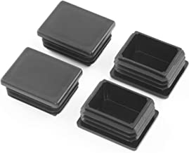 4 stuks afdekkappen lamellenstoppen f. rechthoekige buizen zwart nieuw (40x60mm / wanddikte 1,5-3,0mm)