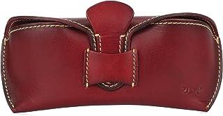 ZLYC Sac Unisexe faite à la main en cuir collection étui à lunettes rigide Étui rigide pour lunettes de soleil en Cuir de ...