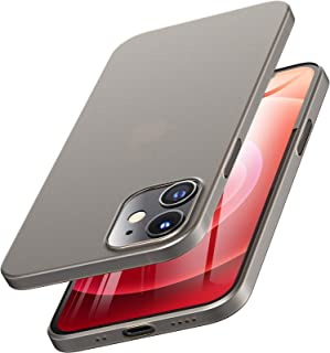 TOZO for iPhone 12 Mini Case 5.4 inch, Ultra Thin Hard Cover [0.35mm] World's Thinnest Protect Bumper Slim Fit Shell [Semi...