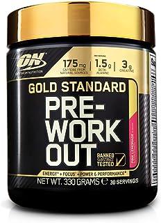 Optimum Nutrition ON Gold Standard pre workout en polvo con creatina monohidrato, beta..