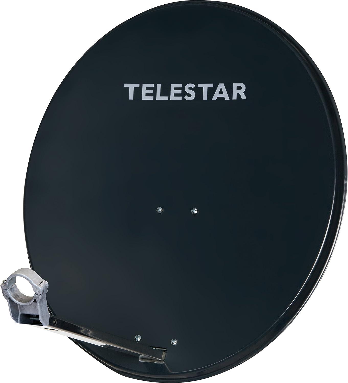 Telestar Digirapid 60 - Antena parabólica (Aluminio, 60 cm, Soporte premontado, Soporte de LNB de 40 mm), Color Gris