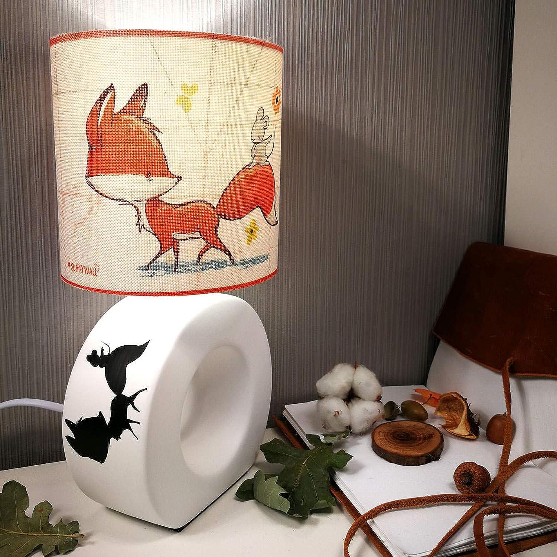 Tischlampe Fuchs & Maus- fox & mouse Liebe - Nachttischlampe Tischleuchte Leuchte LED kompatibel Auswahl Komplett