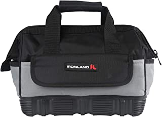 Tool Bag Wide Mouth with Multi-Compartment Pockets,Organizer Bag for Electricians, Carpenters. (12 inch)