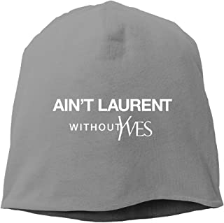 VYily Ain't Laurent Without Yves Beanies Unisex Skull Cap Black