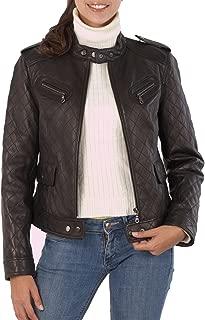 BGSD Women's Quilted Lambskin Leather Moto Biker Jacket