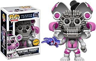 Funko Funtime Freddy (Chase Edition): Five Nights at Freddy's - Sister Location x POP! Games Vinyl Figure & 1 PET Plastic Graphical Protector Bundle [#225 / 13730 - B]