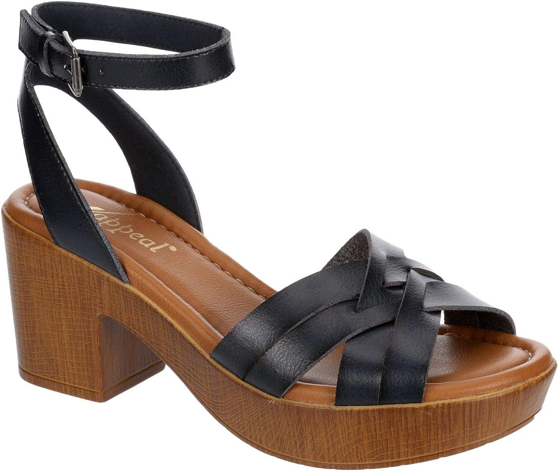 XAPPEAL May Popular overseas - Womens Dress High Austin Mall Peep Plat Open Heeled Toe Chunky