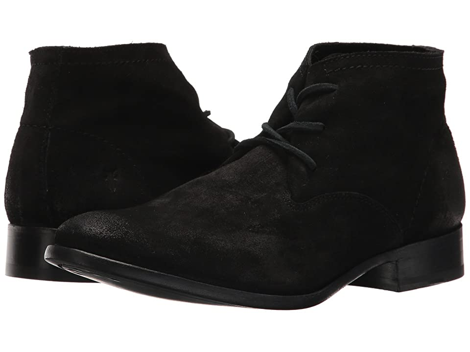 Frye Carly Chukka (Black Oiled Suede) Women