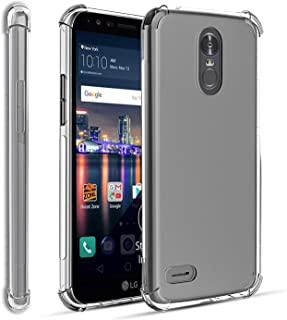 TGOOD LG Stylo 3 Case,LG Stylo 3 Plus Case with Soft Screen Protector(Not Glass),Reinforced Corners Drop Protection,Flexible Soft TPU,Thin Slim Silicone Rubber for Men Women,Clear