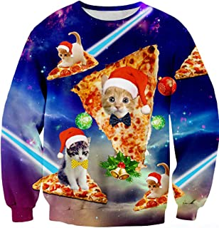 Men&Women Ugly Christmas Sweater Funny Sweatshirt Long Sleeve Pullover