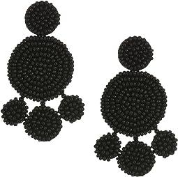 Beaded Disc Chandelier Earrings