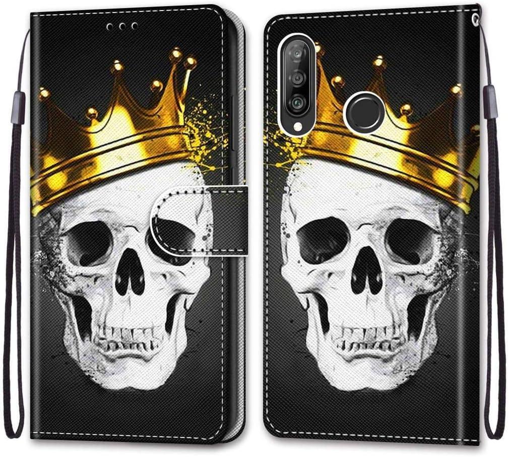 Case Cover Wallet avec Stand Support Housse de Protection pour Huawei P30 Lite//Nova 4e 6.15 DIKAS pour Huawei P30 Lite//Nova 4e PU Cuir Clapet Housse