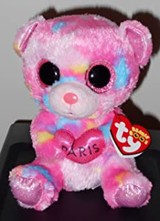 (Ship from USA) Ty Beanie Boos - PARIS the Bear (2016) - PARIS EXCLUSIVE - MINT with MINT TAGS -ITEM#: G15/uiF982A6385