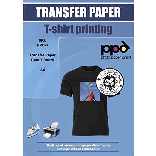 d4b6d639 PPD Inkjet T Shirt Transfer Paper A4 for Dark Fabric x 10 Sheets PPD-4