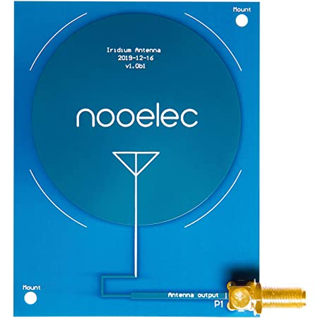 Nooelec Iridium Patch Antenna - High Gain (3dBi) 1620MHz PCB Antenna with SMA Connector for Iridium and Other L-Band Applications. 1.62GHz Center Frequency and 80MHz+ Bandwidth