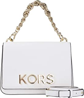 Mott Large Embellished Leather Crossbody Bag, Optic White