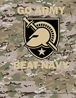 GO ARMY BEAT NAVY West Point USMA 8.5 x 11 200 page lined notebook leaderbook in US Army Objective Camouflage Pattern (OCP)