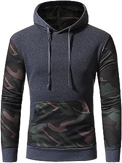 Hoodie Sweatshirt For Men,Clearance Sale-Farjing Mens Camouflage Long SleevePrint Hooded Sweatshirt Tops Jacket Coat Outwear
