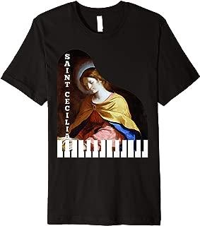 St Cecilia Gifts Piano Catholic Patron Saint Music Musicians Premium T-Shirt