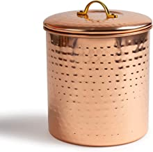 NuSteel Hammered 2 QT Stainless Steel, Beautiful Food Storage Container for Kitchen Counter, Tea, Sugar, Coffee, Caddy, Fl...