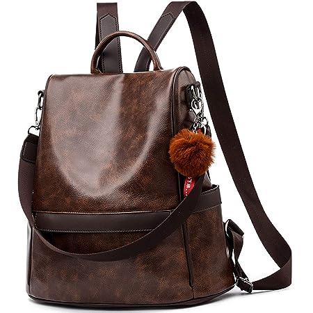 Damen Soft PU Leder Rucksack Handtasche Schultertasche All in One Multifunktions Anti Diebstahl Tasche Wasserdichte Rucksack