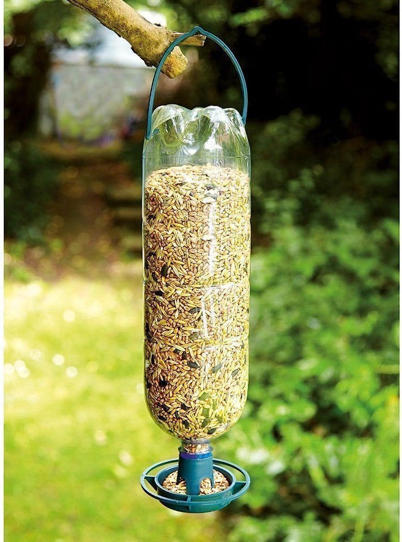 Generic .. Feeder Feeder Kit op Hangin Hanging Bird E Dr RECYCLE Drink rink 4x Bottle Top rs Bottles Into Feeders