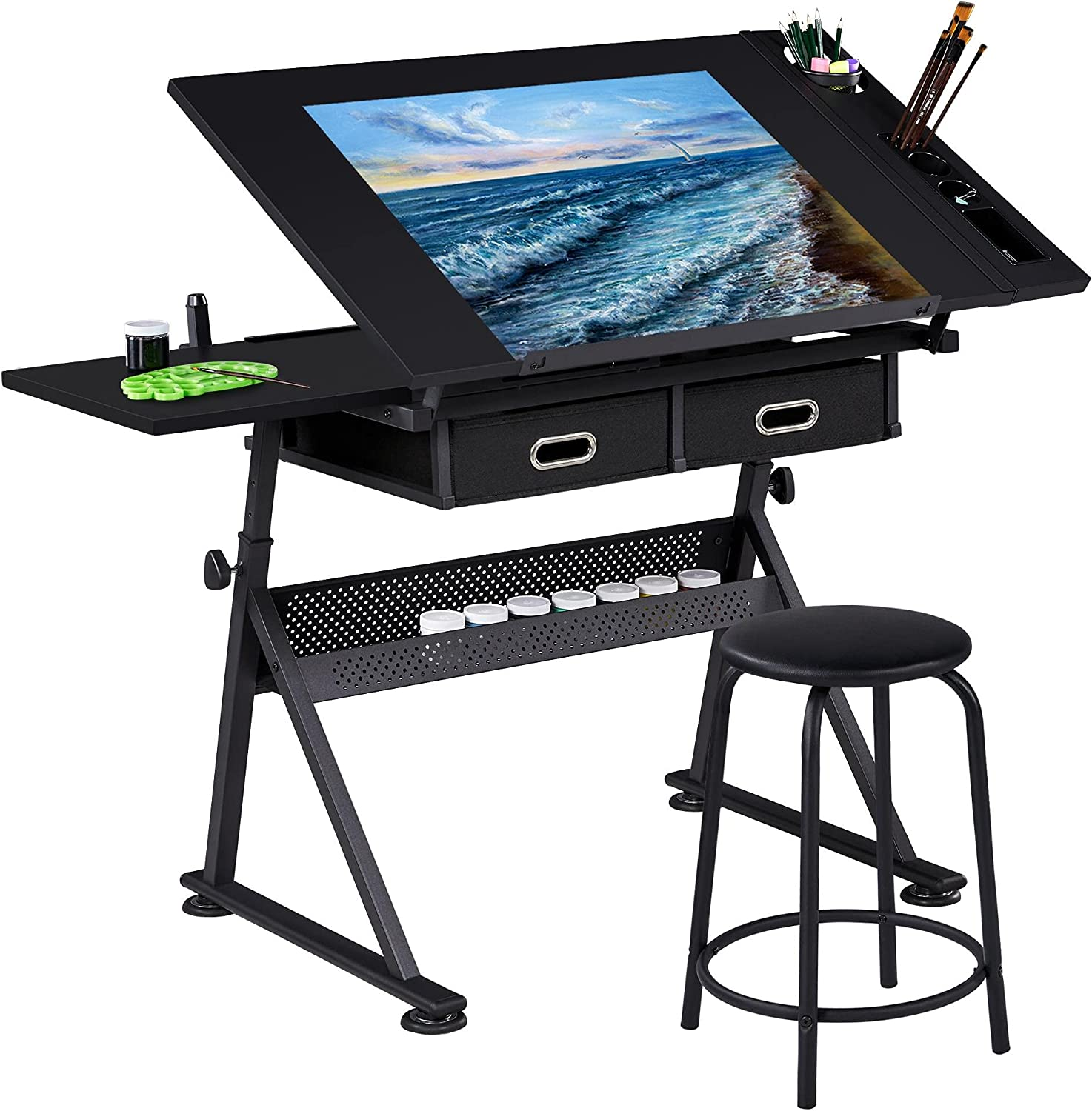 Topeakmart Drafting Table Special price for a limited time Height Adjustable Desk Drawing Draft It is very popular T