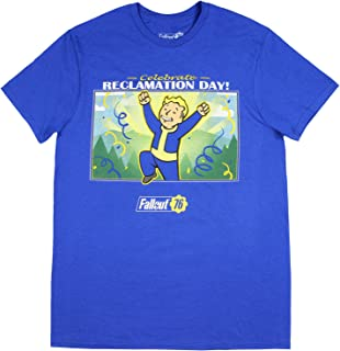 Fallout 76 Shirt Celebrate Reclamation Day Officially Licensed Men's Video Game T-Shirt