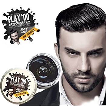 Play 'Do Temporary Hair Color, Hair Wax, Hair Clay, Mens Grooming, Pomade, Black hair dye(1.8 ounces)