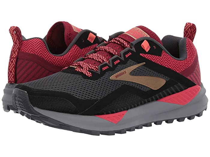 Brooks  Cascadia 14 (Black/Rumba Red/Coral) Womens Running Shoes