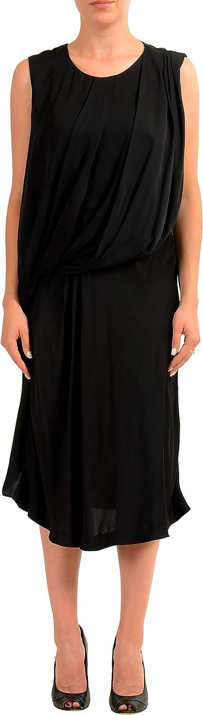Viktor & Rolf Black Sleeveless Women's Sheath Dress US L IT 44