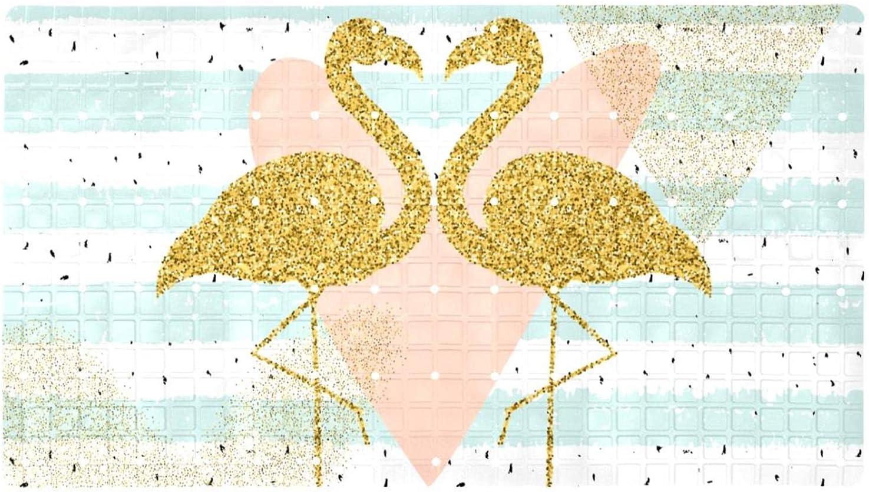 Shower Mats Max 66% OFF Creativity Gold Glitter Slip Flamingo Bat Square Cheap mail order sales Non