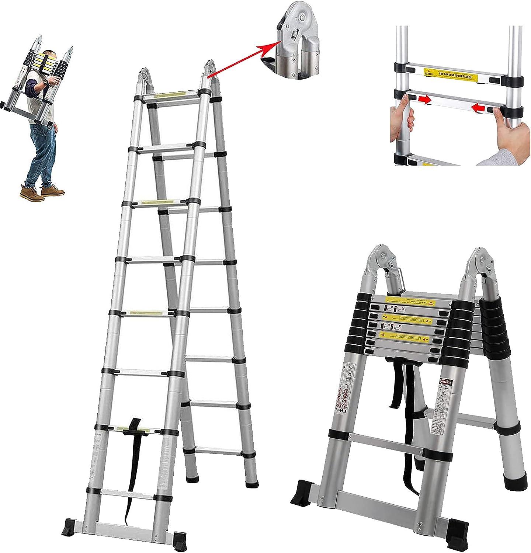 16.5FT Cash special price Multi-Purpose Aluminium Telescopic Extensi wholesale Folding Ladder